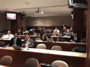 ニューヨーク大学での講義風景
